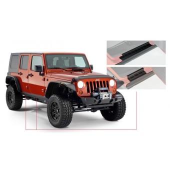 Пластиковые накладки для Jeep Wrangler на пороги для 4-х дв.(для 2-х дверного № 14011)