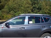 Хромированные накладки на дверные стойки Toyota RAV4