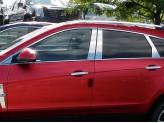 Хромированные накладки на дверные стойки Cadillac SRX