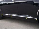 Хромированные накладки Toyota Venza на двери из 8 частей