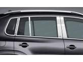Хромированные накладки на дверные стойки Volkswagen Tiguan