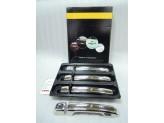 Хромированные накладки на дверные ручки Toyota Landcruiser Prado 120