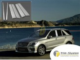 Хромированные накладки на дверные стойки Mercedes-Benz M-class W166