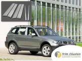 Хромированные накладки на дверные стойки BMW X3 2007-2010 г.