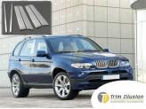 Хромированные накладки для BMW X5 на дверные стойки, полированная нержавеющая сталь из 6 ч.