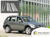 Хромированные накладки на дверные стойки BMW X3 2000-2006 г.