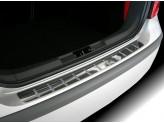 Хромированная накладка для Toyota RAV4 на задний бампер с защитными силиконовыми вставками