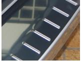 Хромированная для Dacia Duster на задний бампер с защитными силиконовыми вставками