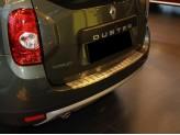Накладка на задний бампер профилированная с загибом,нерж. сталь(толщина металла 1,2 мм,устанавливается на полиуретановый, влагостойкий двусторонний скотч) 2011-