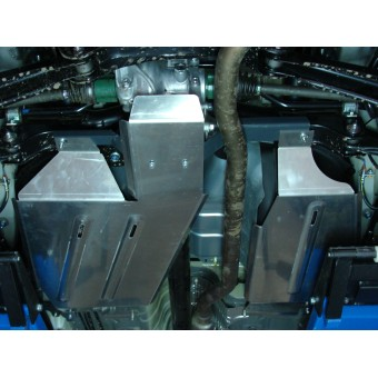 Защита бензобака и дифференциала (алюминий) 4 мм