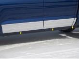 Накладки на двери для Double Cab Standard Bed-8.5 Wide,полир. нерж. сталь из 6-ти частей