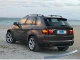 Хромированная накладка для BMW X5 на задний бампер, нерж.