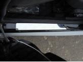 Хромированные накладки для Nissan Terrano на пороги, полир.нерж. сталь