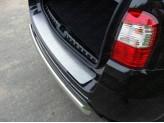 Хромированная накладка для Nissan Terrano на задний бампер,полир. нерж. сталь