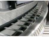 Хромированная накладка для Infiniti FX 37 на задний бампер с силиконом,полир. нерж. сталь