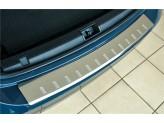 Хромированная накладка для Nissan Qashqai на задний бампер с загибом, полир. нерж. сталь