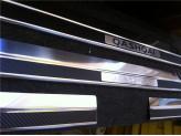 """Накладки для Nissan Qashqai на внутренние пороги из 4-х частей с логотипом""""QASHQAI"""""""