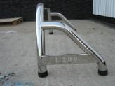 """Защитная дуга 60 мм в кузов с логотипом """"L200"""" полированная нерж. сталь, изображение 2"""