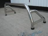 """Защитная дуга 60 мм в кузов с логотипом """"L200"""" полированная нерж. сталь"""