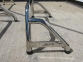 """Защитная дуга 60 мм в кузов с логотипом """"NISSAN"""", полированная нерж. сталь, изображение 2"""