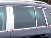 Хромированные накладки на дверные стойки Volkswagen Tiguan 2010-2014 г.