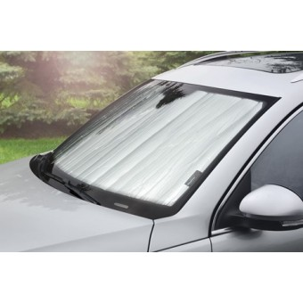 Солнцезащитный экран на лобовое стекло Infiniti QX56 (QX80), цвет серебристый/черный