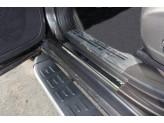 """Хромированные накладки для Jeep Cherokee на пороги """"зеркальные"""" из 4 ч. полир. нерж. сталь"""