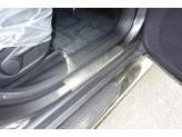"""Хромированные накладки для Jeep Cherokee на пороги  """"декоративные"""", комплект 4 ч."""