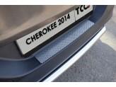 Хромированная накладка для Jeep Cherokee на задний бампер,полир. нерж. сталь