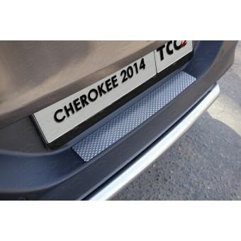 Хромированная накладка для Jeep Cherokee на задний бампер (декоративная),полир. нерж. сталь (для мод. с 2014 г,Sport, Longitude, Limited)