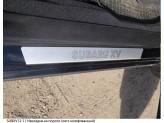 Хромированные накладки для Subaru XV на пороги