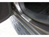 Хромированные накладки для Jeep Cherokee на пороги зеркальная,полир. нерж. сталь