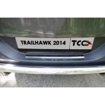 Хромированная накладка для Jeep Cherokee (Traihawk) на задний бампер (зеркальная),полир. нерж. сталь