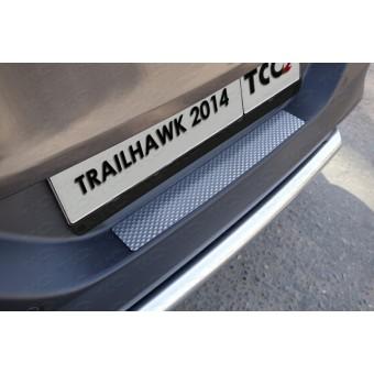 Хромированная накладка для Jeep Cherokee (Traihawk) на задний бампер (декоративная),нерж. сталь