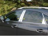 Хромированные накладки на дверные стойки Lexus RX