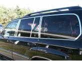 Хромированные накладки на дверные стойки Lexus LX-450/470