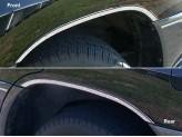 Комплект накладок на колесные арки из 4 ч.,полир. нерж. сталь