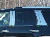 Хромированные накладки на дверные стойки Cadillac Escalade