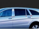 Хромированные накладки на дверные стойки Mercedes-Benz R Class
