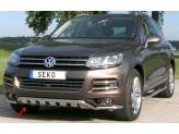 Передняя защита для Volkswagen Touareg с поперечными пластинами 50 мм