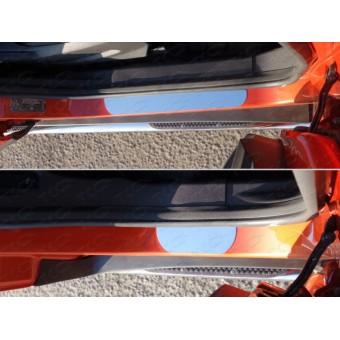 Хромированные накладки для Ford EcoSPORT на пороги (лист зеркальный),полир. нерж. сталь