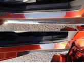 Хромированная накладка для Ford EcoSPORT на задний бампер