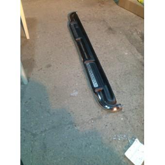 Пороги с площадкой 60 мм полир. полир. нерж. сталь для а/м без накл. на порог