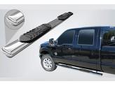 Пороги для Toyota HiLux, полир. нерж. сталь