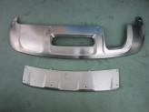 Накладки переднего для и заднего бампера для Audi Q3, полир. нерж. сталь