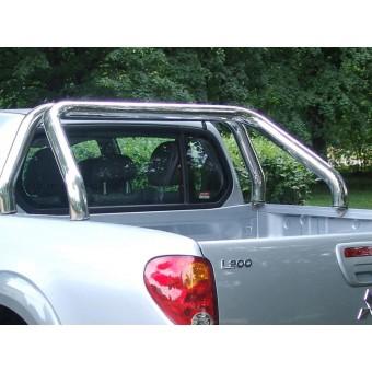 Защитная дуга в кузов пикапа 70 мм,полир. нерж. сталь (устанавливается со сверлением на болты)
