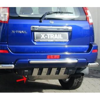 Накладки на задний бампер для Nissan X-Trail T30 (к-т из 4ч.) полир. нерж. сталь