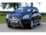 Решетка в передний бампер для Nissan Qashqai, полир. нерж. сталь