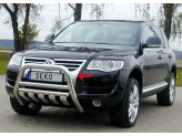 Передняя защита для Volkswagen Touareg, полир. нерж. сталь