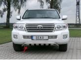Передняя защита с поперечными пластинами для Toyota Landcruiser 200, полир. нерж. сталь для мод. с 2012 г.